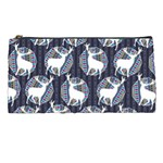 Geometric Deer Retro Pattern Pencil Cases Front