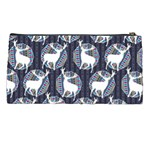 Geometric Deer Retro Pattern Pencil Cases Back
