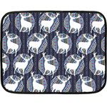 Geometric Deer Retro Pattern Double Sided Fleece Blanket (Mini)  35 x27 Blanket Back