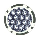 Geometric Deer Retro Pattern Poker Chip Card Guards (10 pack)  Front