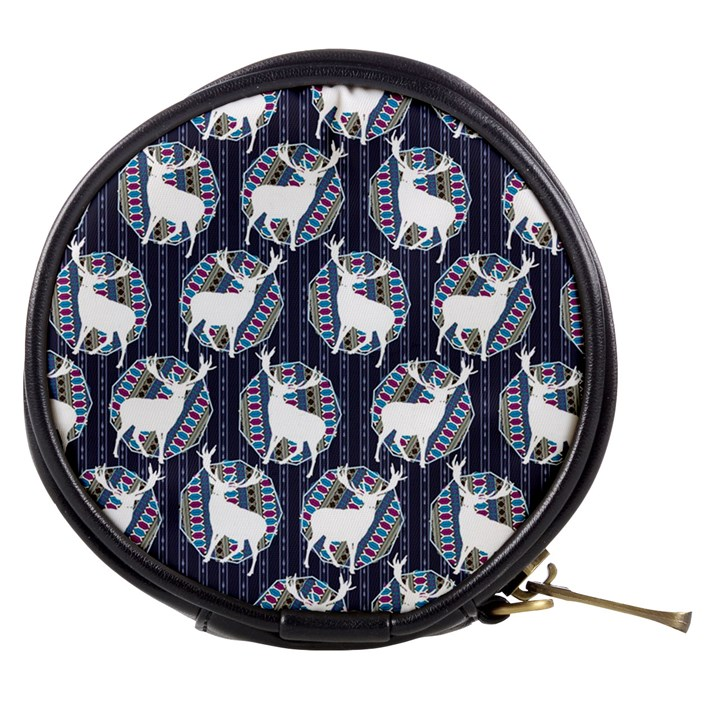 Geometric Deer Retro Pattern Mini Makeup Bags