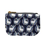 Geometric Deer Retro Pattern Mini Coin Purses Front