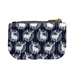 Geometric Deer Retro Pattern Mini Coin Purses Back