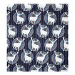 Geometric Deer Retro Pattern Shower Curtain 66  x 72  (Large)  58.75 x64.8 Curtain