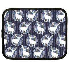 Geometric Deer Retro Pattern Netbook Case (xxl)