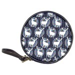 Geometric Deer Retro Pattern Classic 20-CD Wallets Front