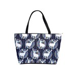 Geometric Deer Retro Pattern Shoulder Handbags Front