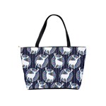 Geometric Deer Retro Pattern Shoulder Handbags Back
