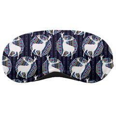 Geometric Deer Retro Pattern Sleeping Masks