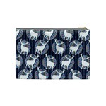Geometric Deer Retro Pattern Cosmetic Bag (Medium)  Back