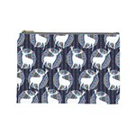 Geometric Deer Retro Pattern Cosmetic Bag (Large)  Front