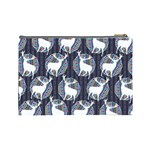 Geometric Deer Retro Pattern Cosmetic Bag (Large)  Back