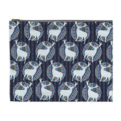Geometric Deer Retro Pattern Cosmetic Bag (XL)