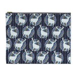 Geometric Deer Retro Pattern Cosmetic Bag (XL) Front