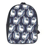 Geometric Deer Retro Pattern School Bags(Large)  Front