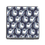 Geometric Deer Retro Pattern Memory Card Reader (Square) Front
