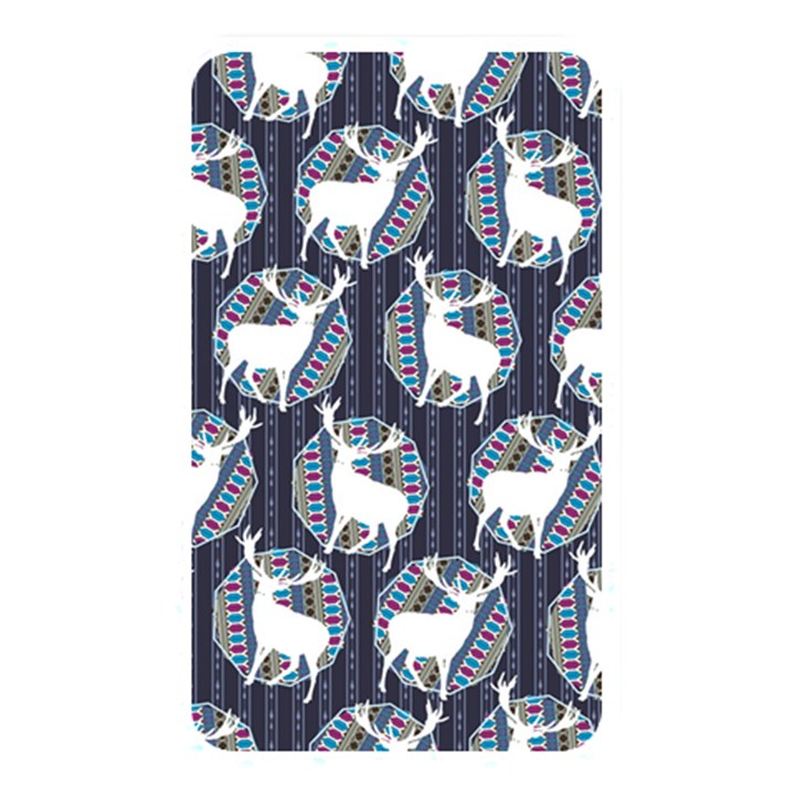 Geometric Deer Retro Pattern Memory Card Reader