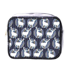 Geometric Deer Retro Pattern Mini Toiletries Bags