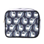 Geometric Deer Retro Pattern Mini Toiletries Bags Front