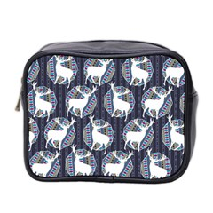 Geometric Deer Retro Pattern Mini Toiletries Bag 2 Side