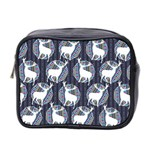 Geometric Deer Retro Pattern Mini Toiletries Bag 2-Side Front