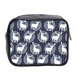 Geometric Deer Retro Pattern Mini Toiletries Bag 2-Side Back