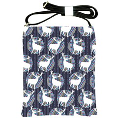 Geometric Deer Retro Pattern Shoulder Sling Bags
