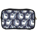 Geometric Deer Retro Pattern Toiletries Bags Front