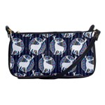 Geometric Deer Retro Pattern Shoulder Clutch Bags Front