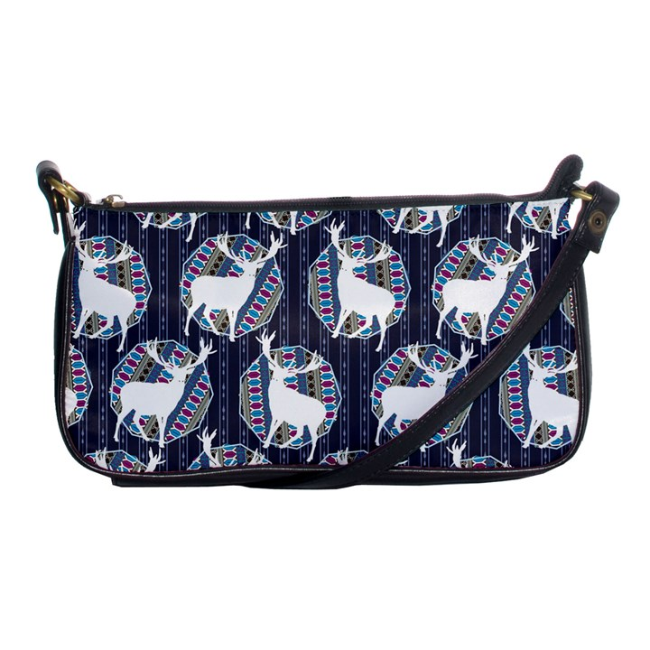 Geometric Deer Retro Pattern Shoulder Clutch Bags