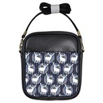 Geometric Deer Retro Pattern Girls Sling Bags Front