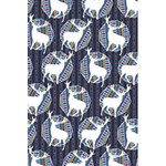 Geometric Deer Retro Pattern 5.5  x 8.5  Notebooks Back Cover Inside