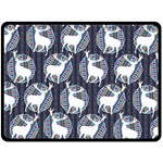 Geometric Deer Retro Pattern Fleece Blanket (Large)  80 x60 Blanket Front
