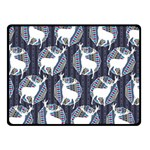 Geometric Deer Retro Pattern Fleece Blanket (Small) 50 x40 Blanket Front