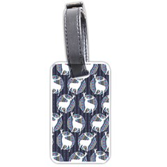 Geometric Deer Retro Pattern Luggage Tags (One Side)