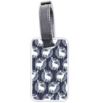 Geometric Deer Retro Pattern Luggage Tags (Two Sides) Front