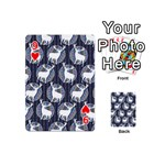 Geometric Deer Retro Pattern Playing Cards 54 (Mini)  Front - Heart9