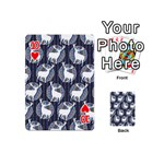 Geometric Deer Retro Pattern Playing Cards 54 (Mini)  Front - Heart10