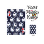 Geometric Deer Retro Pattern Playing Cards 54 (Mini)  Front - Diamond6