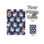 Geometric Deer Retro Pattern Playing Cards 54 (Mini)  Front - Diamond10