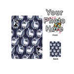 Geometric Deer Retro Pattern Playing Cards 54 (Mini)  Front - Club2