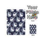Geometric Deer Retro Pattern Playing Cards 54 (Mini)  Back
