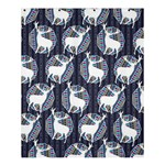 Geometric Deer Retro Pattern Shower Curtain 60  x 72  (Medium)  54.25 x65.71 Curtain