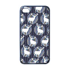 Geometric Deer Retro Pattern Apple Iphone 4 Case (black)