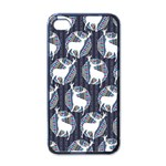 Geometric Deer Retro Pattern Apple iPhone 4 Case (Black) Front