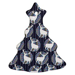 Geometric Deer Retro Pattern Ornament (Christmas Tree)