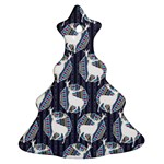 Geometric Deer Retro Pattern Ornament (Christmas Tree) Front