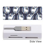 Geometric Deer Retro Pattern Memory Card Reader (Stick)  Front