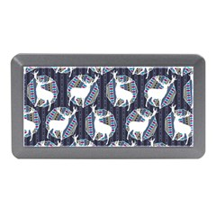 Geometric Deer Retro Pattern Memory Card Reader (Mini)