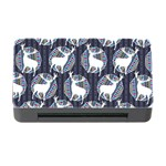 Geometric Deer Retro Pattern Memory Card Reader with CF Front